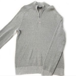 Express • Ribbed Pullover Zip Sweater